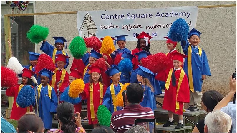 A photo of Centre square academy graduation.