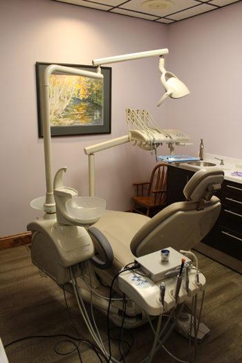 A dental treatment seat.