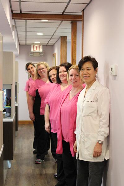 A dentist and nurses.