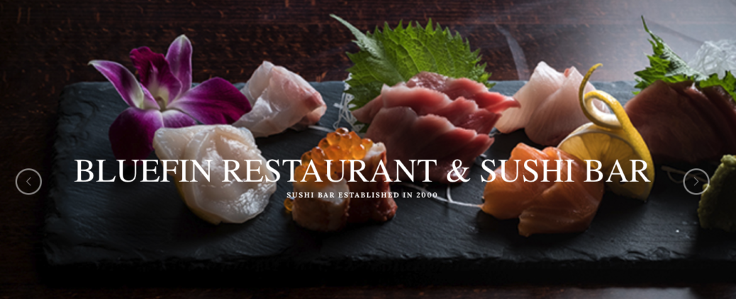 Bluefin restaurant's graphic.