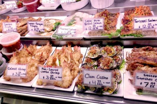 Deep fried seafoods.