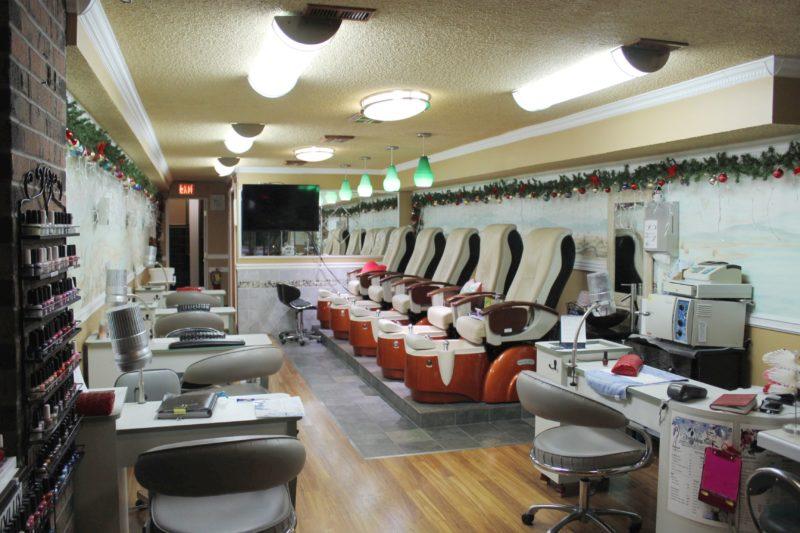 Nail salone interior.