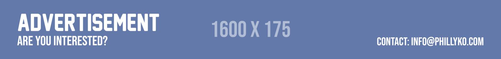 Advertisement banner 1600 X 175.