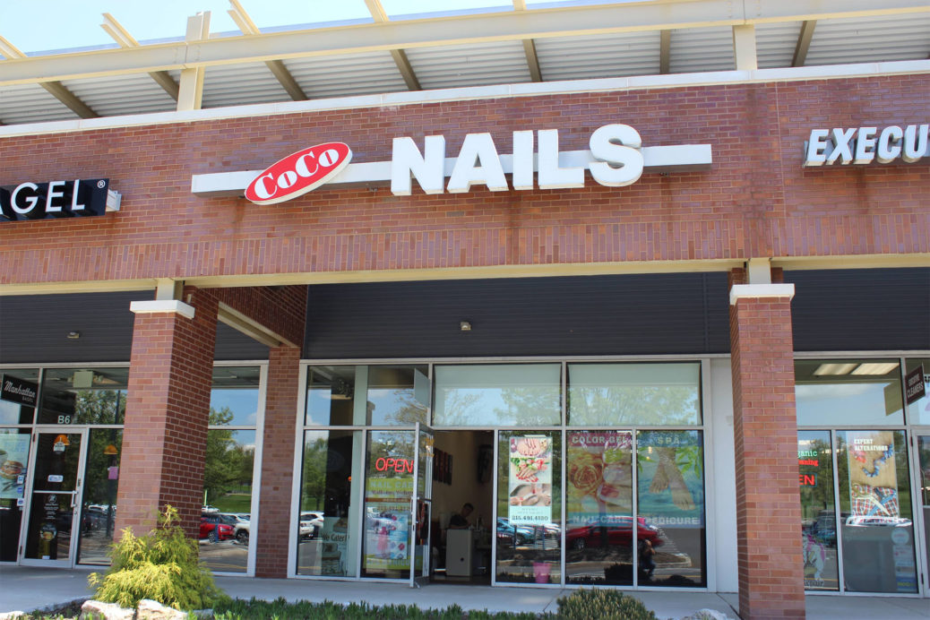 Nail salon sign.
