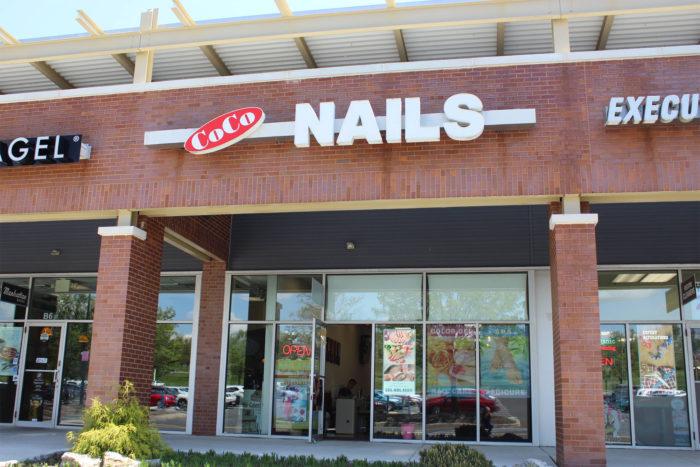 Nail salon sign.